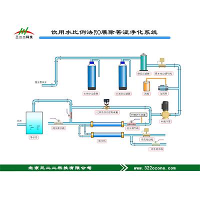 饮用水比例法RO膜去苦涩净化系统